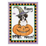 Boxer Halloween Greeting Card
