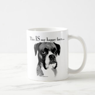 Boxer Happy Face Coffee Mug