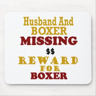 Boxer  & Husband Missing Reward For Boxer Mouse Mat