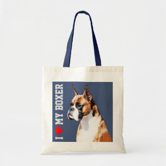Boxer Illustrated Tote Bag