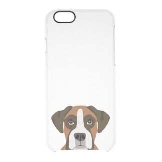 Boxer iphone dog case - clear case