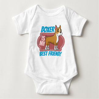 Boxer is my best friend baby bodysuit