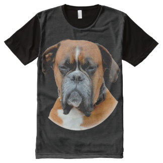 Boxer Looking All-Over Print T-Shirt