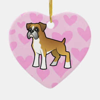 Boxer Love (add your own message) Ceramic Heart Decoration