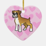 Boxer Love (add your own message) Christmas Tree Ornament