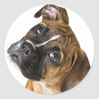 Boxer Love Classic Round Sticker