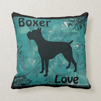 Boxer Love pillow by Carol Zeock Cushion