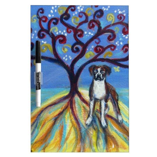 Boxer love spiritual tree dry erase board