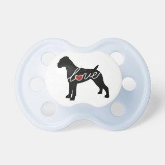Boxer Love (Undocked Ears) Baby Pacifier