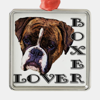 Boxer lover dog ornament