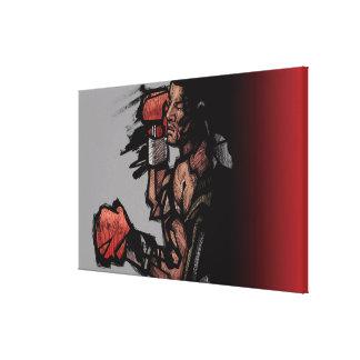 Boxer lying down canvas print