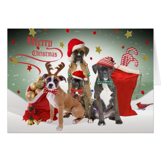 Boxer Merry Christmas Cards
