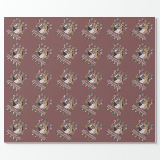 Boxer Merry Christmas Ugly Sweater Wrapping Paper