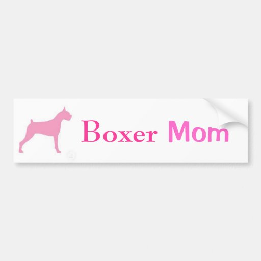 Boxer Mom Bumper Sticker