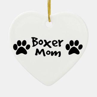 boxer mom christmas ornament