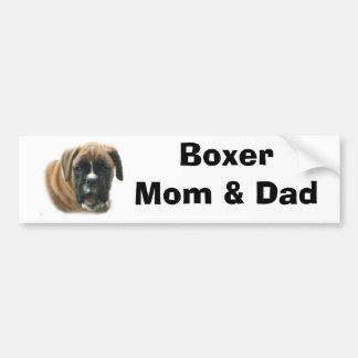 Boxer Mom & Dad Bumper Sticker