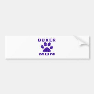 Boxer Mom Gifts Designs Bumper Sticker