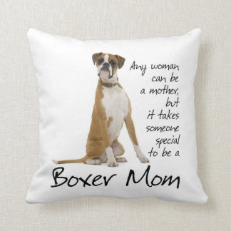 Boxer Mom Pillow