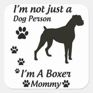 Boxer Mom Square Sticker