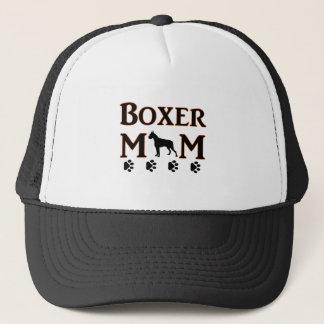 boxer mom trucker hat