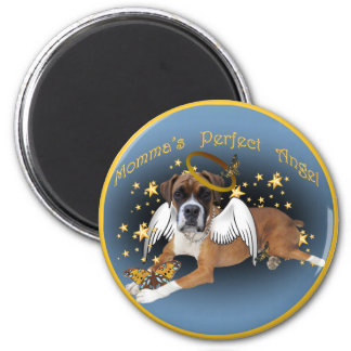Boxer Momma's Angel apparel and gifts Fridge Magnets