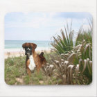Boxer Mousepad In The Beachgrass