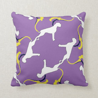 Boxer of dogs throw pillow