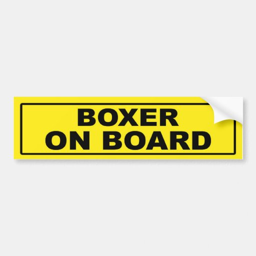 Boxer on Board Bumper Sticker