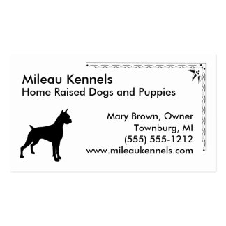 Boxer Pack Of Standard Business Cards