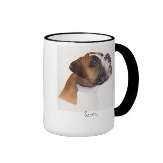 Boxer Painted in Watercolour mug
