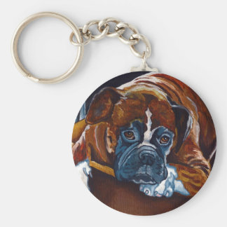 "Boxer ""Patience"" Key Ring"