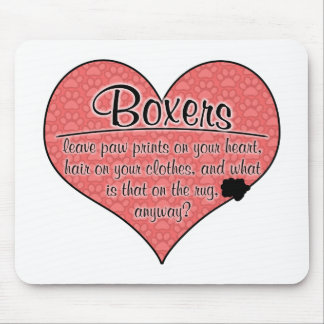 Boxer Paw Prints Dog Humor Mouse Mat