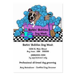 Boxer Pet Grooming Business And Appointment Card Business Cards