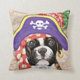Boxer Pirate Throw Pillow