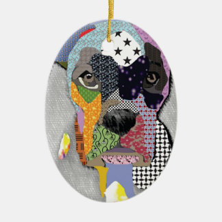 Boxer Portrait Christmas Ornament