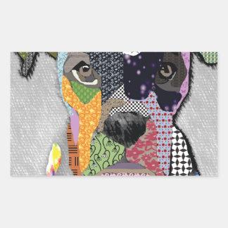 Boxer Portrait Rectangular Sticker