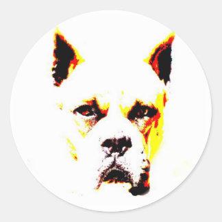 Boxer portrait sticker
