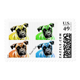 Boxer Postage Stamp by Focus for a Cause
