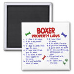 Boxer Property Laws 2 Square Magnet