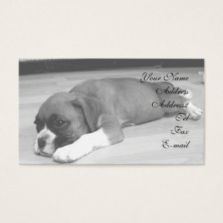 Boxer puppy business cards