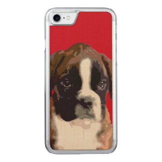 Boxer puppy dog carved iPhone 8/7 case