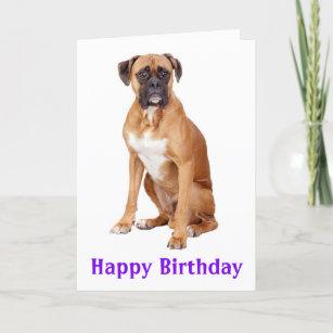 Boxer Puppy Dog Happy Birthday Card