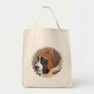 Boxer Puppy Dog Tote Bag