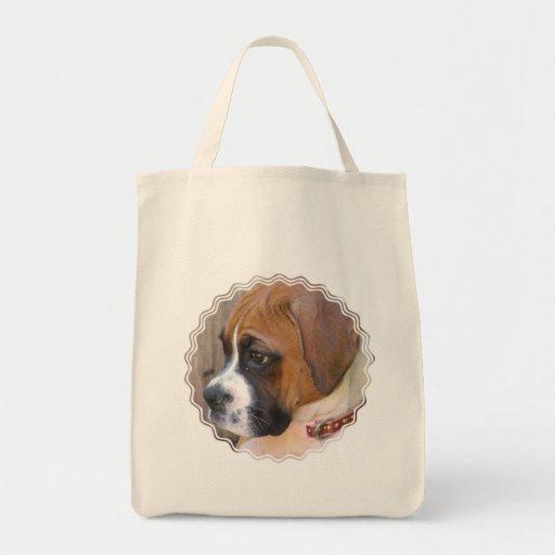 Boxer Puppy Dog Tote Bag