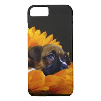 Boxer puppy in sunflower iphone 7 case