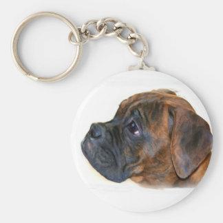Boxer  puppy keychain