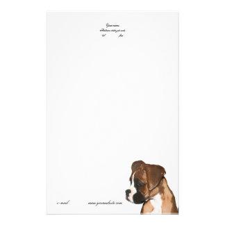 Boxer puppy letterhead stationery design