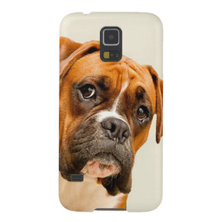 Boxer puppy on ivory cream backdrop. galaxy s5 case