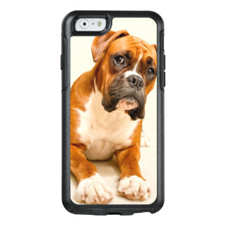 Boxer puppy on ivory cream backdrop. OtterBox iPhone 6/6s case