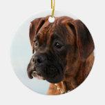 Boxer puppy ornament